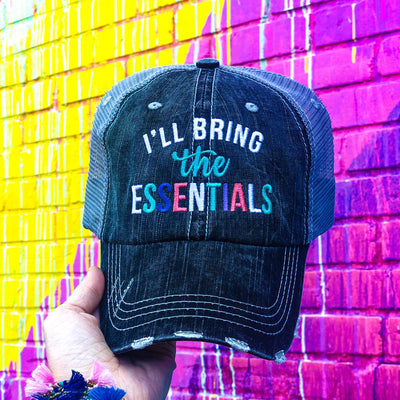 Buy I'll Bring the Essentials Quarantine Hat from Walking Pants Curiosities, the Most un-General Gift Store in Downtown Memphis, Tennessee!