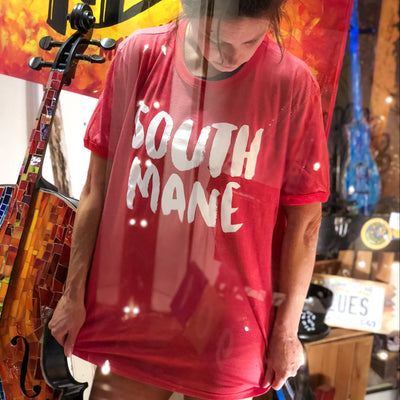 "Buy The ""South Mane"" Memphis T-Shirt from Walking Pants Curiosities, the Most un-General Gift Store in Downtown Memphis, Tennessee!"