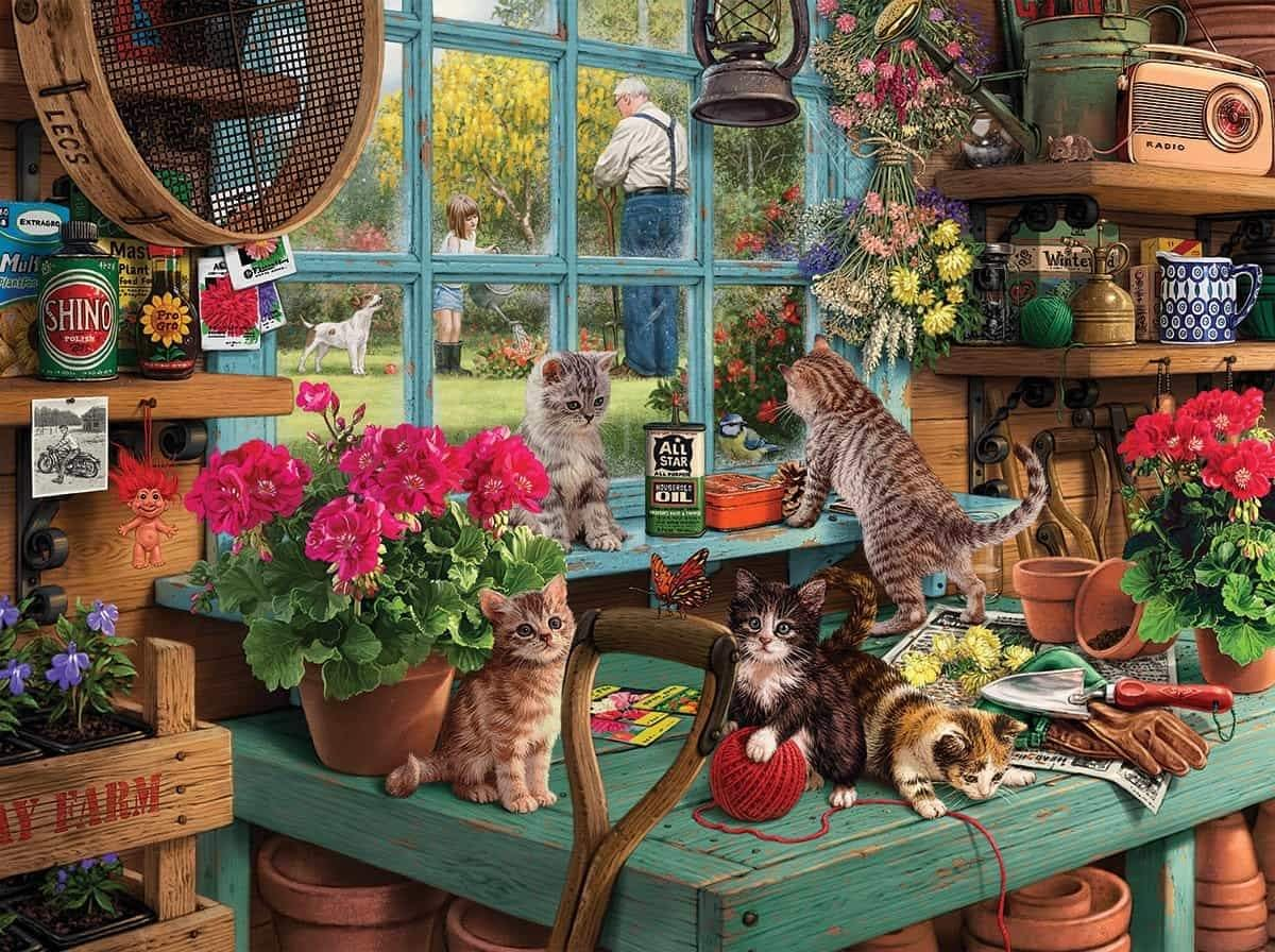 Curious Kitten 1000 Piece Jigsaw Puzzle - Walking Pants Curiosities