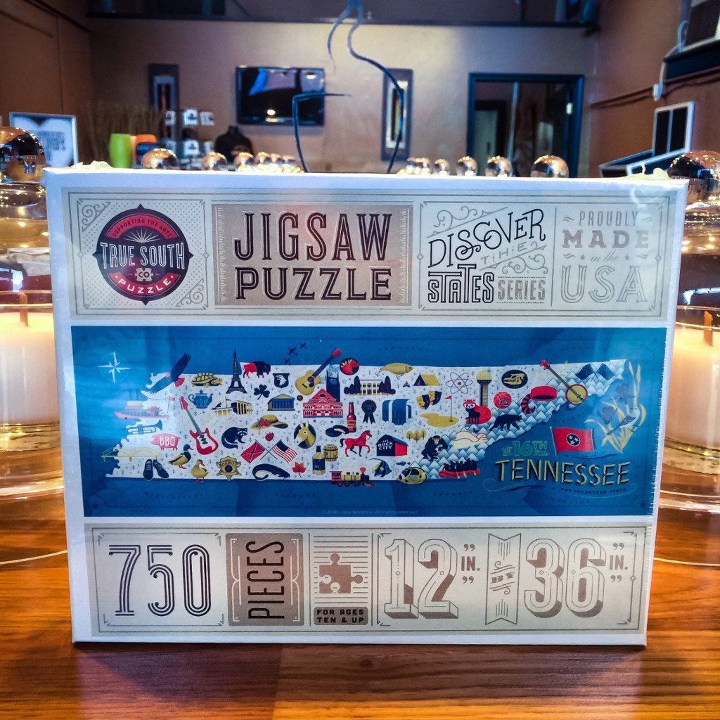 Buy Tennessee Map, 750 Piece Jigsaw Puzzle from Walking Pants Curiosities, the Most un-General Gift Store in Downtown Memphis, Tennessee!