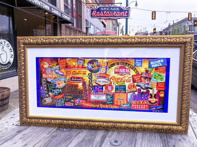 Buy Beale Street Neon Signs 19x36 Framed Art from Walking Pants Curiosities, the Most un-General Gift Store in Downtown Memphis, Tennessee!