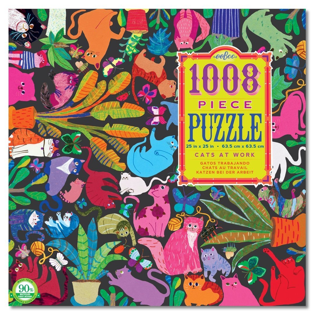 Buy Cats at Work 1000 Piece Jigsaw Puzzle from Walking Pants Curiosities, the Most un-General Gift Store in Downtown Memphis, Tennessee!