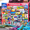 Buy I Love California 1000 Piece Jigsaw Puzzle from Walking Pants Curiosities, the Most un-General Gift Store in Downtown Memphis, Tennessee!