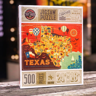 Buy Texas : Discover the States Series, 500 Piece Jigsaw Puzzle from Walking Pants Curiosities, the Most un-General Gift Store in Downtown Memphis, Tennessee!