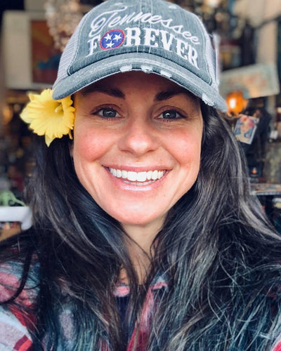 Buy Tennessee Forever Women's Trucker Hat from Walking Pants Curiosities, the Most un-General Gift Store in Downtown Memphis, Tennessee!