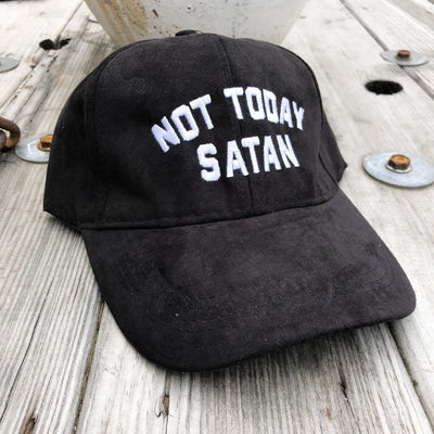 Buy Not Today Satan Trucker Baseball Hat from Walking Pants Curiosities, the Most un-General Gift Store in Downtown Memphis, Tennessee!