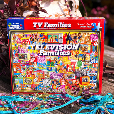 Buy TV Families 1000 Piece Jigsaw Puzzle from Walking Pants Curiosities, the Most un-General Gift Store in Downtown Memphis, Tennessee!