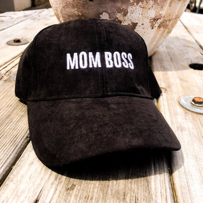Buy Mom Boss Ultra Suede Trucker Hat from Walking Pants Curiosities, the Most un-General Gift Store in Downtown Memphis, Tennessee!