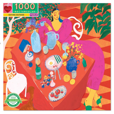 Buy Eating Outside 1000 Piece Jigsaw Puzzle from Walking Pants Curiosities, the Most un-General Gift Store in Downtown Memphis, Tennessee!