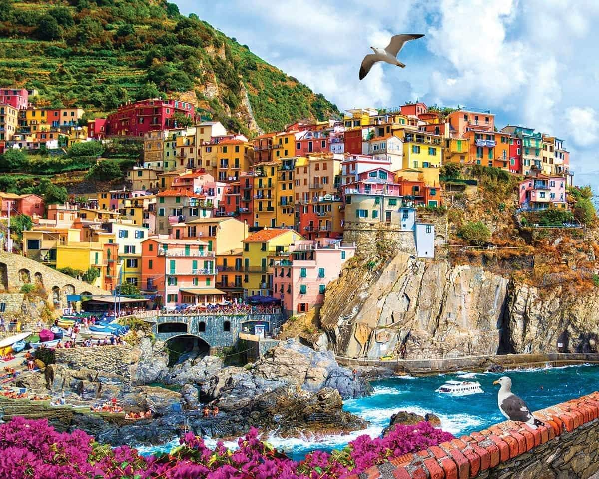 Cinque Terre, Italy 1000 Piece Jigsaw Puzzle - Walking Pants Curiosities