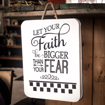 Buy Let Your Faith Be Bigger Than Fear Wall Art Decor from Walking Pants Curiosities, the Most un-General Gift Store in Downtown Memphis, Tennessee!