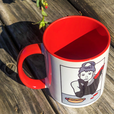 Buy Audrey Hepburn Coffee Mug from Walking Pants Curiosities, the Most un-General Gift Store in Downtown Memphis, Tennessee!