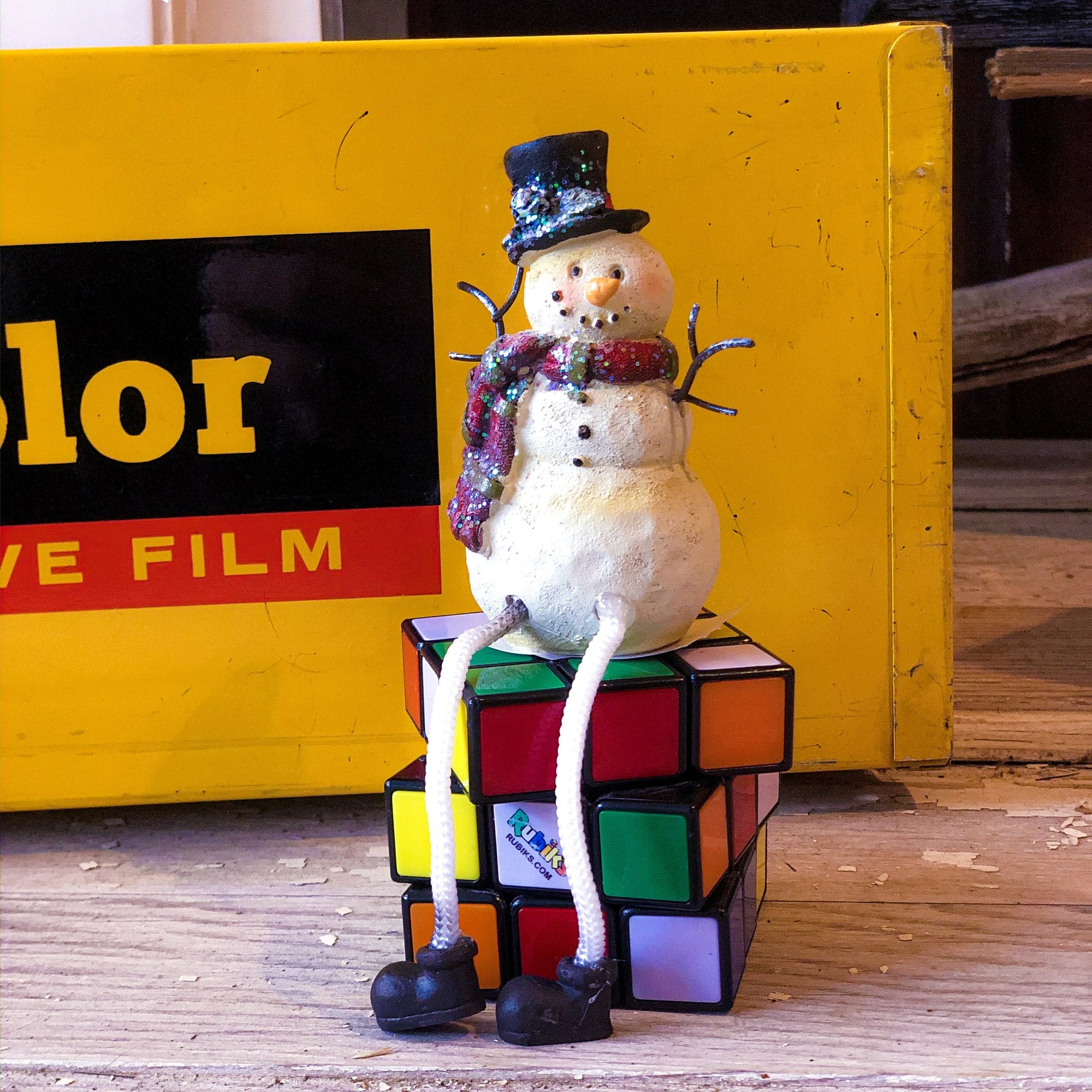 Buy Frosty the Snowman With Tophat Shelf Sitter from Walking Pants Curiosities, the Most un-General Gift Store in Downtown Memphis, Tennessee!