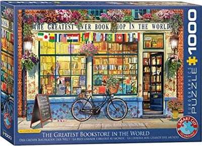 Buy Vintage Bookshop 1000 Piece Jigsaw Puzzle from Walking Pants Curiosities, the Most un-General Gift Store in Downtown Memphis, Tennessee!