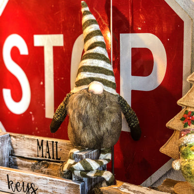 Buy Jeremiah the Christmas Gnome Shelf Sitter from Walking Pants Curiosities, the Most un-General Gift Store in Downtown Memphis, Tennessee!