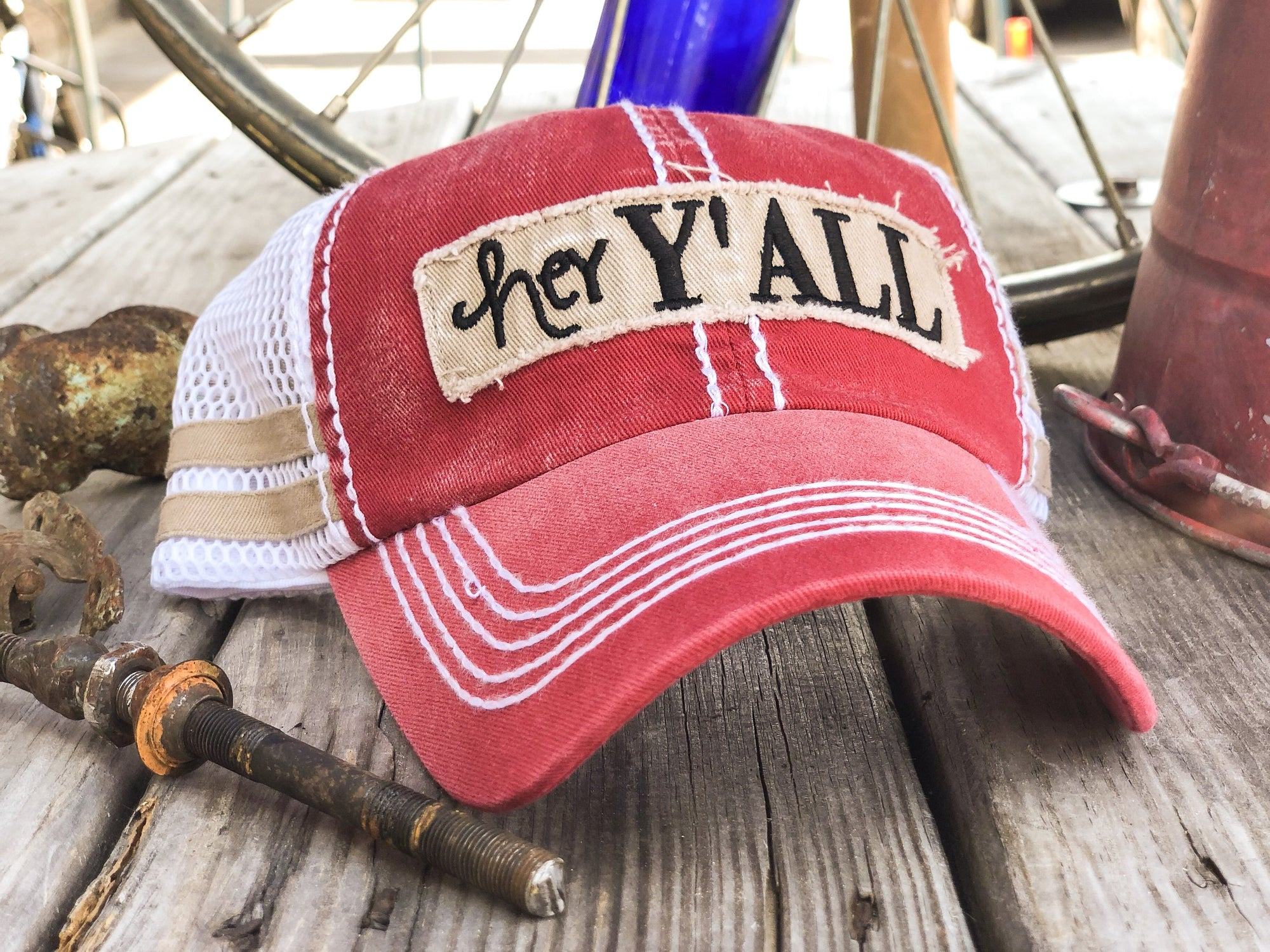 Hey Y'all Mesh Women's Vintage Hat - Walking Pants Curiosities