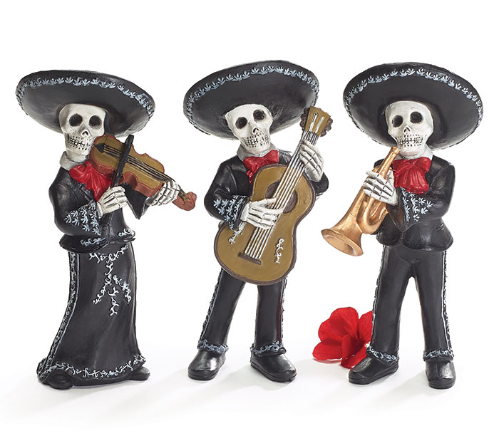 Buy Day of the Dead Mariachi Band Figurines from Walking Pants Curiosities, the Most un-General Gift Store in Downtown Memphis, Tennessee!