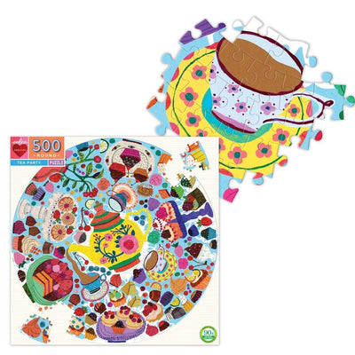 Buy Tea Party 500 Piece Round Jigsaw Puzzle from Walking Pants Curiosities, the Most un-General Gift Store in Downtown Memphis, Tennessee!