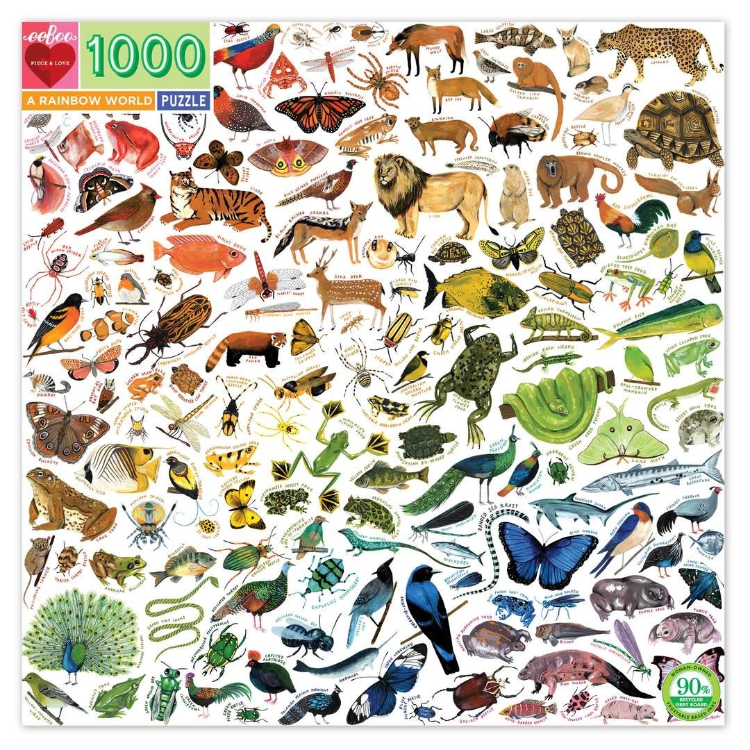 Buy A Rainbow World 1000 Piece Jigsaw Puzzle from Walking Pants Curiosities, the Most un-General Gift Store in Downtown Memphis, Tennessee!