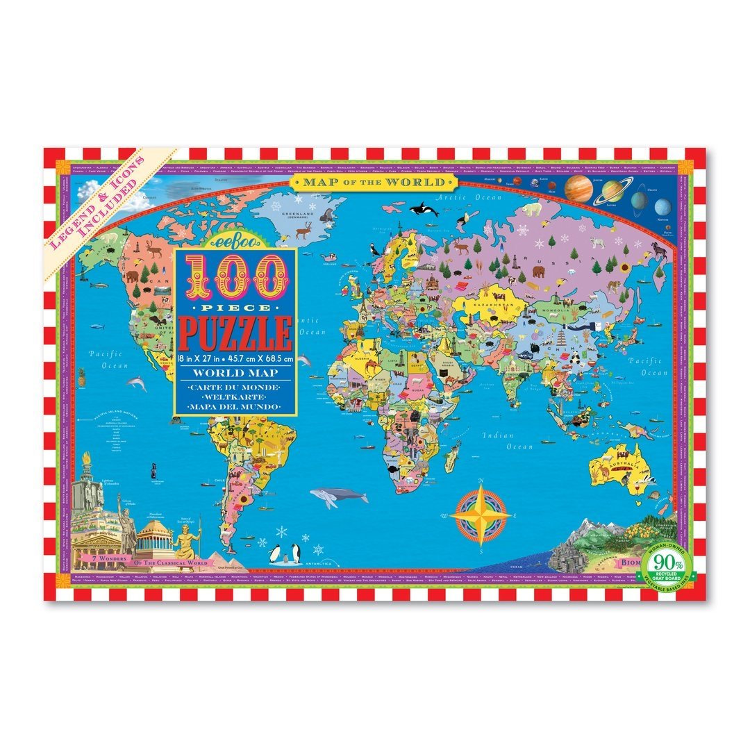 World Map 100 Piece Jigsaw Puzzle - Walking Pants Curiosities