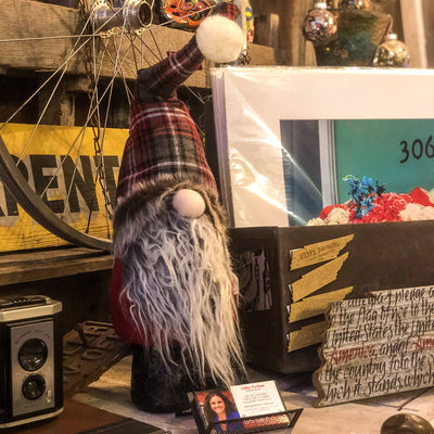 Buy Christmas Gnome Decor With Long Beard from Walking Pants Curiosities, the Most un-General Gift Store in Downtown Memphis, Tennessee!