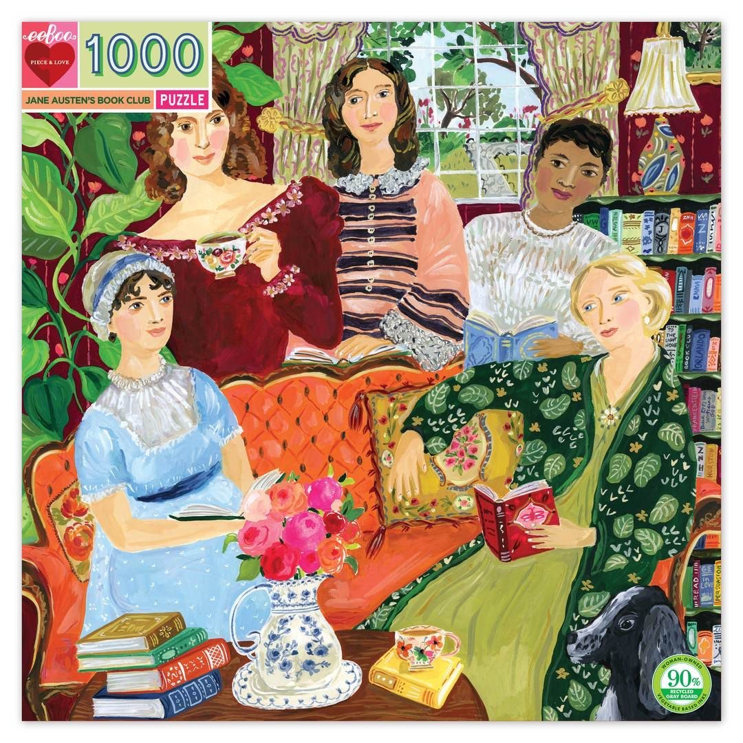 Buy BACK ORDER Jane Austen's Book Club 1000 Piece Jigsaw Puzzle from Walking Pants Curiosities, the Most un-General Gift Store in Downtown Memphis, Tennessee!