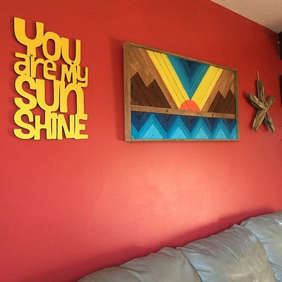 Buy You Are My Sunshine Wall Art from Walking Pants Curiosities, the Most un-General Gift Store in Downtown Memphis, Tennessee!