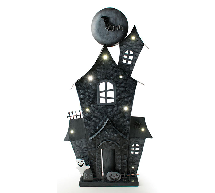 Buy Lighted Haunted House Halloween Decoration from Walking Pants Curiosities, the Most un-General Gift Store in Downtown Memphis, Tennessee!