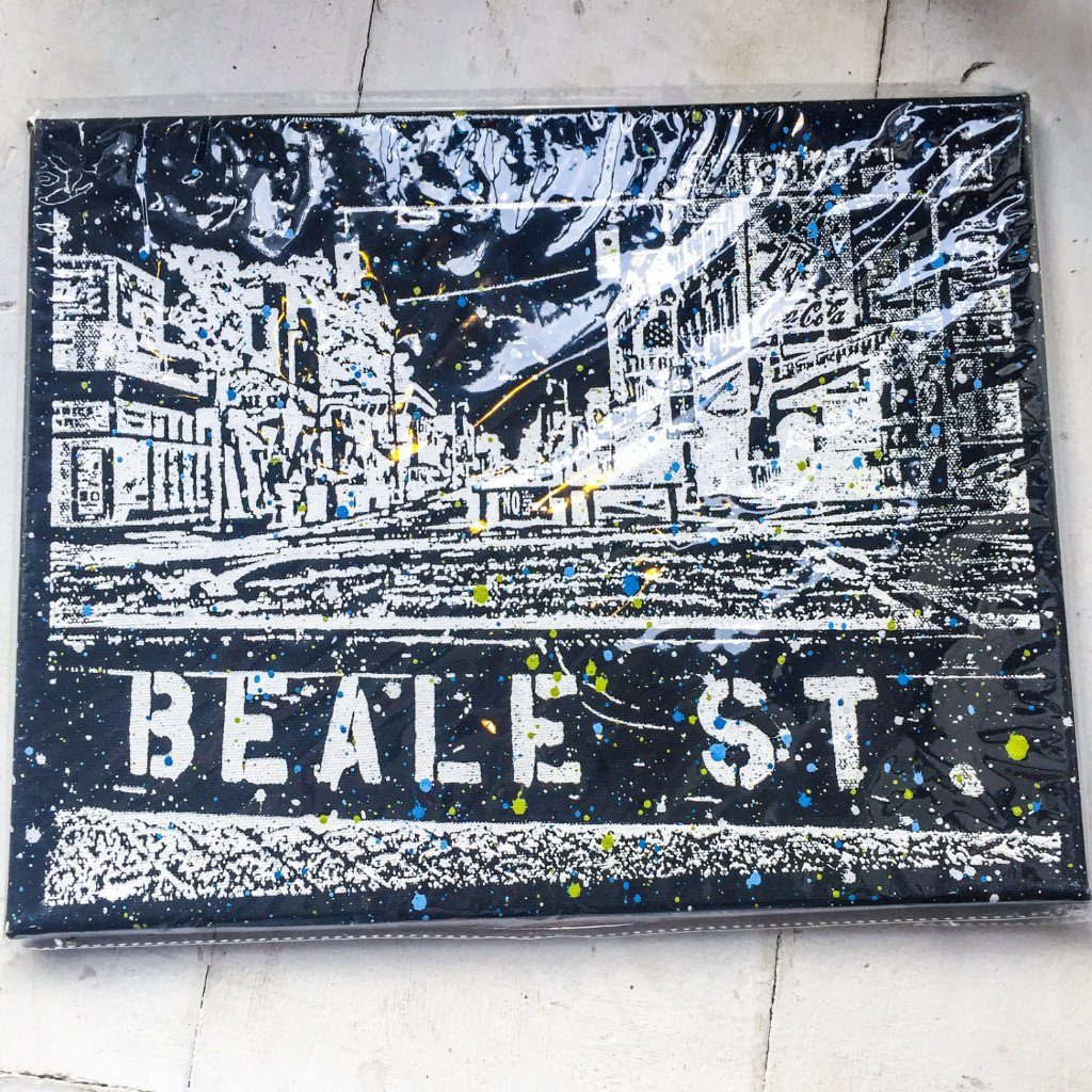Buy Beale Street in Memphis, Tennessee on Canvas, Art by Adam Exelbierd from Walking Pants Curiosities, the Most un-General Gift Store in Downtown Memphis, Tennessee!