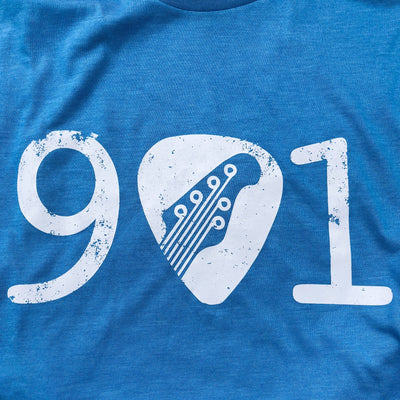Buy 901 Memphis Guitar Pick Short Sleeve T-Shirt from Walking Pants Curiosities, the Most un-General Gift Store in Downtown Memphis, Tennessee!