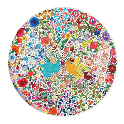 Buy BACK ORDER Blue Bird Yellow Bird 500 Piece Round Puzzle from Walking Pants Curiosities, the Most un-General Gift Store in Downtown Memphis, Tennessee!