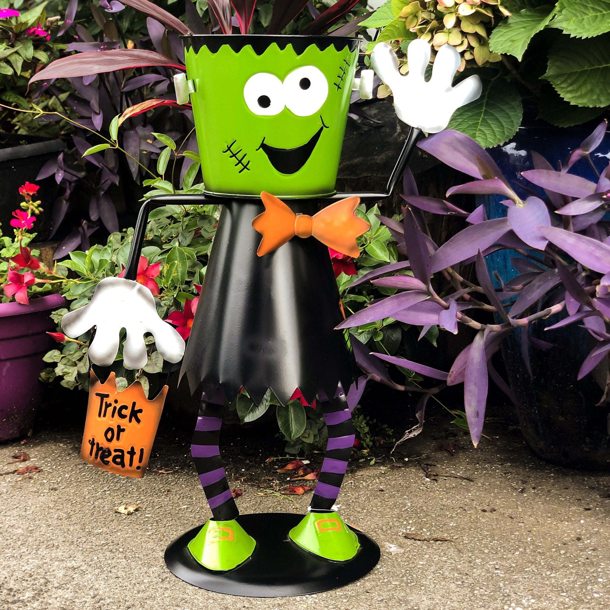 Frankenstein Bucket Head Halloween Candy Holder - Walking Pants Curiosities