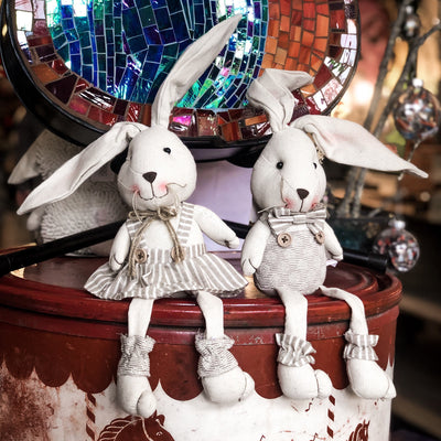 Buy Big Ear Easter Bunny Shelf Sitter Set from Walking Pants Curiosities, the Most un-General Gift Store in Downtown Memphis, Tennessee!