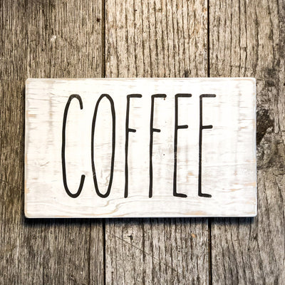 Buy Coffee, a Rustic Farmhouse Sign from Walking Pants Curiosities, the Most un-General Gift Store in Downtown Memphis, Tennessee!