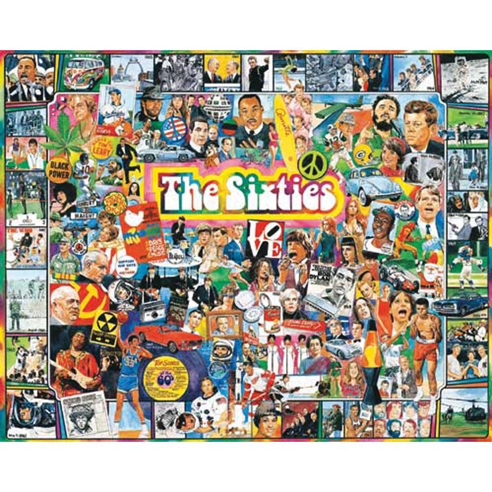 Buy The Sixties 1000 Piece Jigsaw Puzzle from Walking Pants Curiosities, the Most un-General Gift Store in Downtown Memphis, Tennessee!