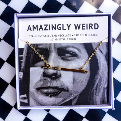 Buy JAECI - Gold Amazingly Weird Necklace from Walking Pants Curiosities, the Most un-General Gift Store in Downtown Memphis, Tennessee!