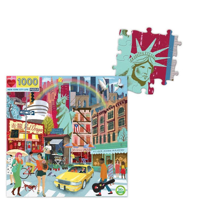 Buy BACK ORDER New York City Life 1000 Piece Jigsaw Puzzle from Walking Pants Curiosities, the Most un-General Gift Store in Downtown Memphis, Tennessee!