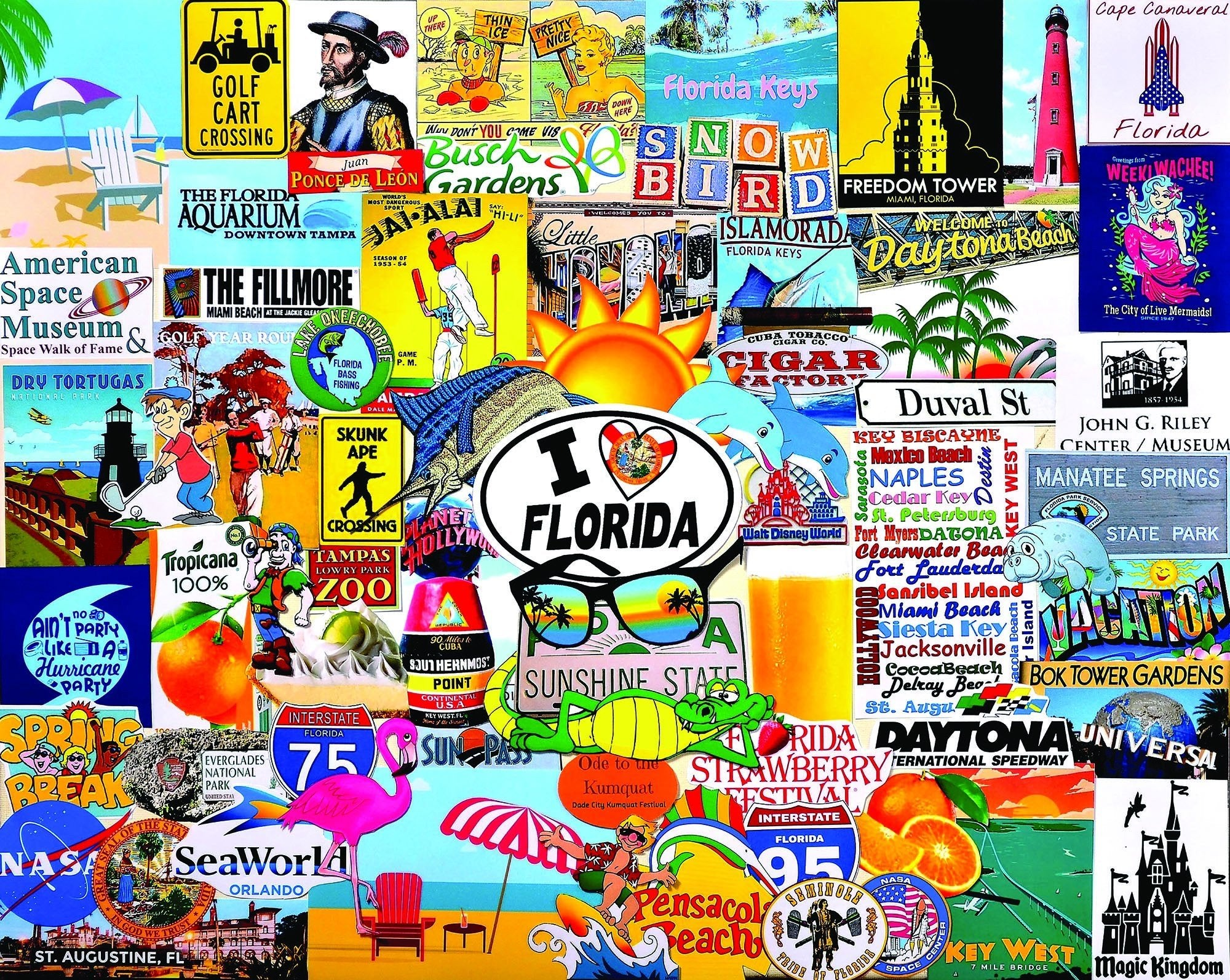I Love Florida 1000 Piece Jigsaw Puzzle - Walking Pants Curiosities