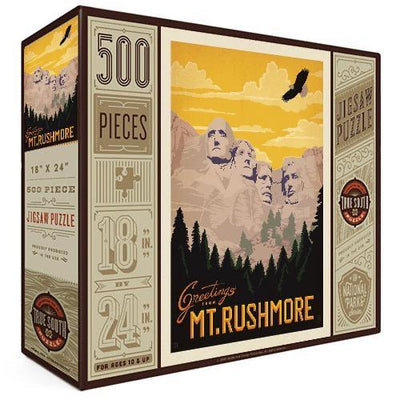 Buy Mt. Rushmore National Parks 500 Piece Jigsaw Puzzle from Walking Pants Curiosities, the Most un-General Gift Store in Downtown Memphis, Tennessee!