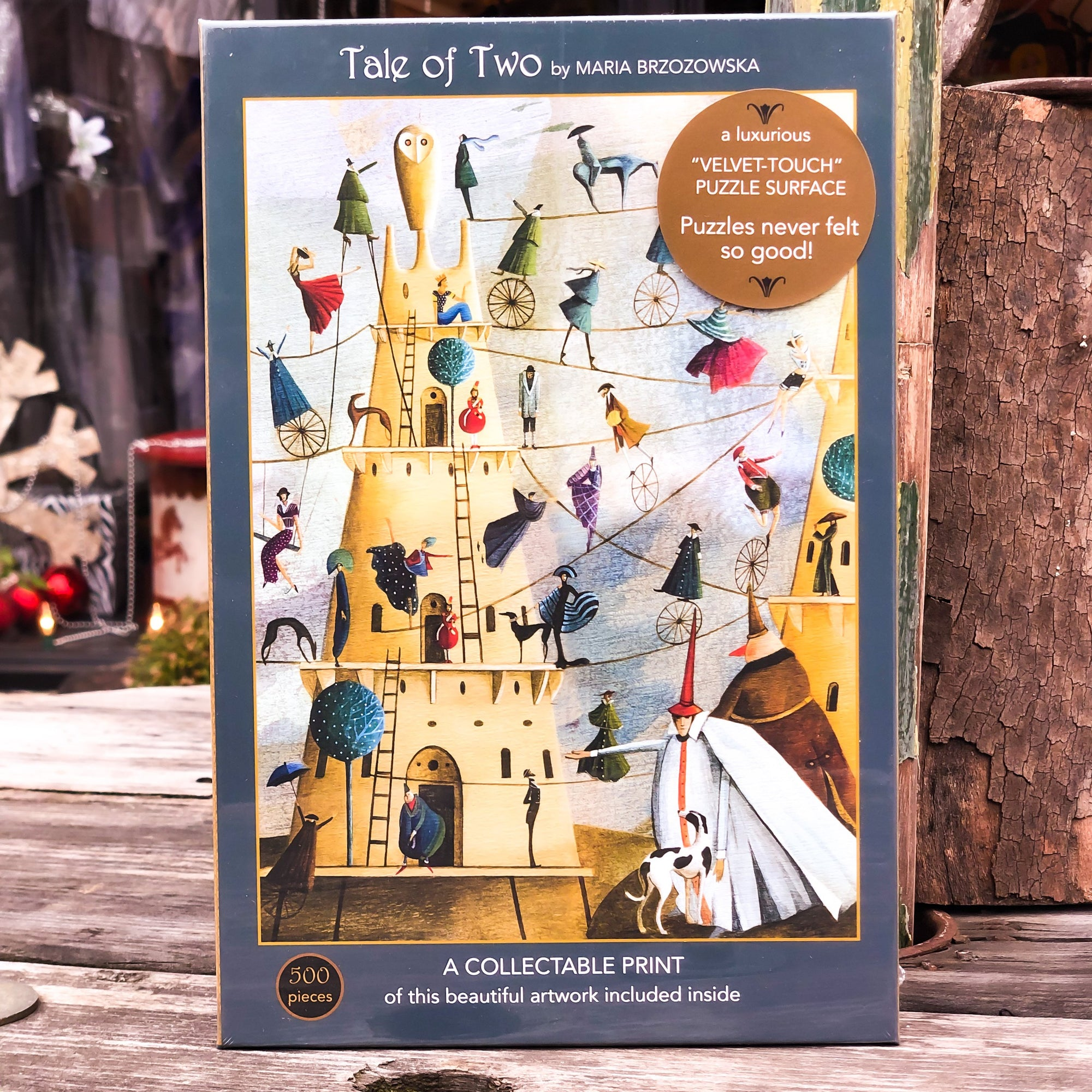 Buy A Tale of Two 500 Piece Jigsaw Puzzle from Walking Pants Curiosities, the Most un-General Gift Store in Downtown Memphis, Tennessee!