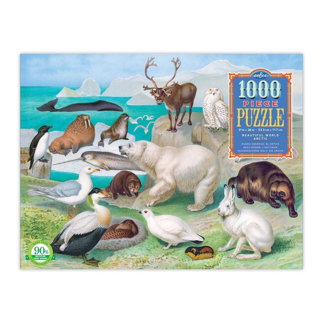 Buy Beautiful World Arctic 1000 Piece Rectangle Puzzle from Walking Pants Curiosities, the Most un-General Gift Store in Downtown Memphis, Tennessee!