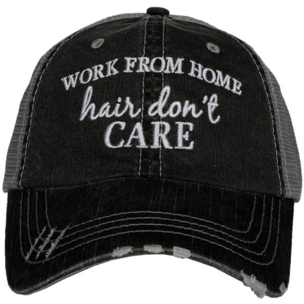 Work From Home Hair Don't Care Quarantine Hat - Walking Pants Curiosities