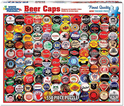 Buy Beer Bottle Caps 500 Piece Jigsaw Puzzle from Walking Pants Curiosities, the Most un-General Gift Store in Downtown Memphis, Tennessee!