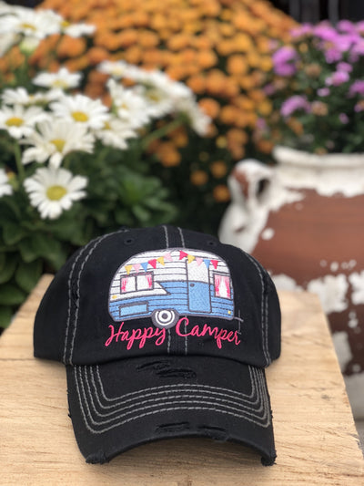 Happy Camper Vintage Women's Hat