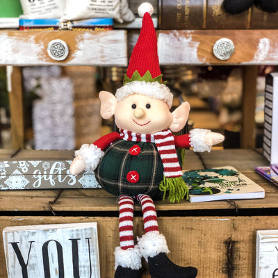 Buy Pippen the Christmas Elf Shelf Sitter from Walking Pants Curiosities, the Most un-General Gift Store in Downtown Memphis, Tennessee!