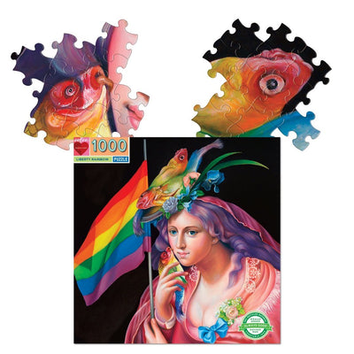 Buy Liberty Rainbow 1000 Piece Jigsaw Puzzle from Walking Pants Curiosities, the Most un-General Gift Store in Downtown Memphis, Tennessee!