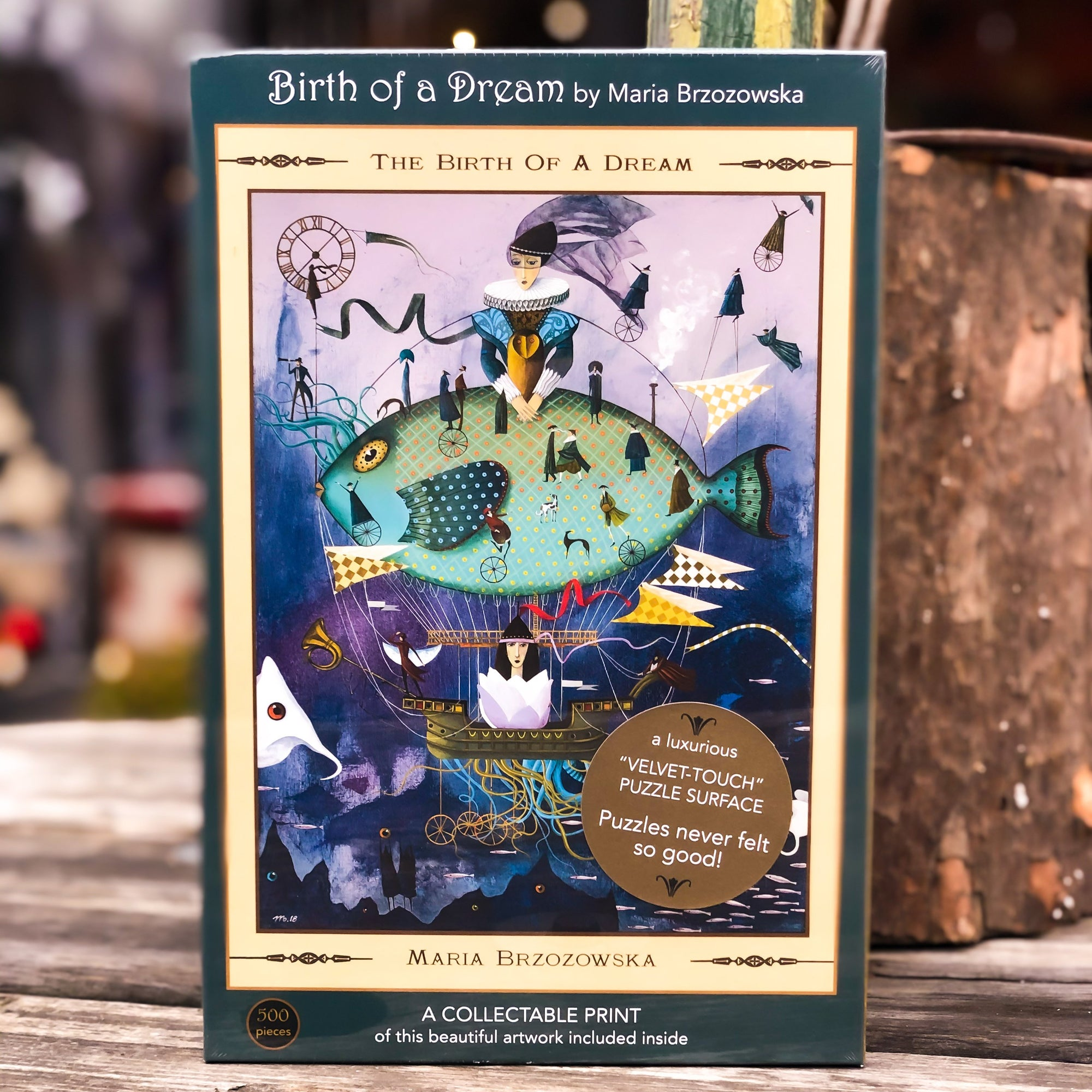 Buy Birth of a Dream 500 Piece Jigsaw Puzzle from Walking Pants Curiosities, the Most un-General Gift Store in Downtown Memphis, Tennessee!