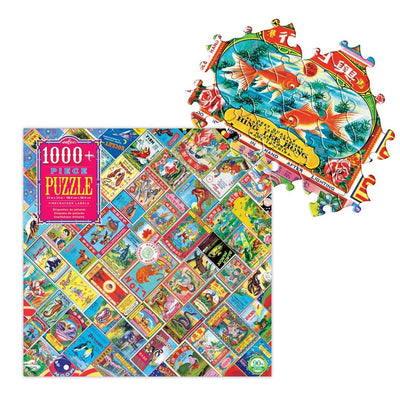 Buy Firecracker Labels 1000 Piece Jigsaw Puzzle from Walking Pants Curiosities, the Most un-General Gift Store in Downtown Memphis, Tennessee!