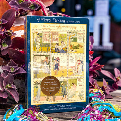 "Buy A Floral Fantasy, 500-Piece ""Velvet-Touch"" Jigsaw Puzzle from Walking Pants Curiosities, the Most un-General Gift Store in Downtown Memphis, Tennessee!"