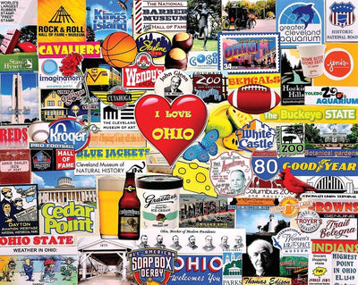 Buy I Love Ohio 1000 Piece Jigsaw Puzzle from Walking Pants Curiosities, the Most un-General Gift Store in Downtown Memphis, Tennessee!